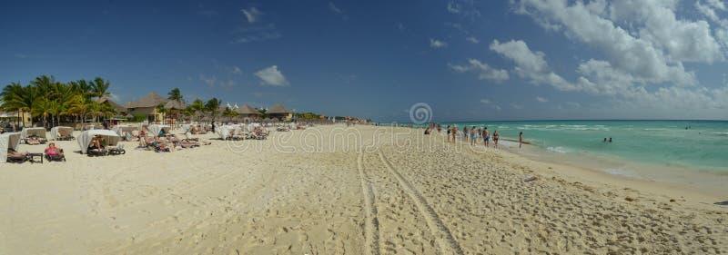 Beach of Playa del Carmen royalty free stock image