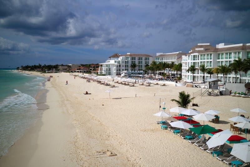 Beach at Playa del Carmen royalty free stock photos