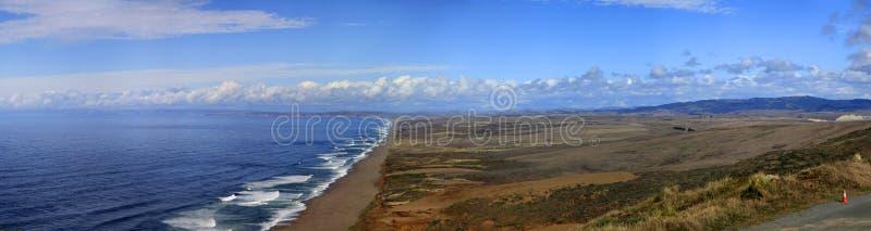 Beach at Point Reyes. Panorama of Beach at Point Reyes National Seashore, California stock photography