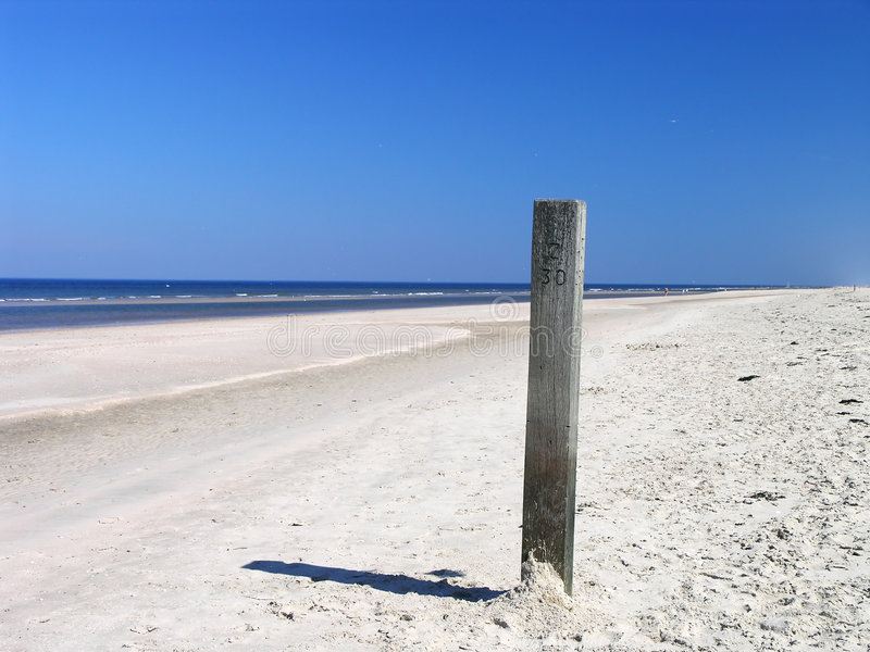 Download Beach pole 1 stock photo. Image of landscape, relying - 1241606