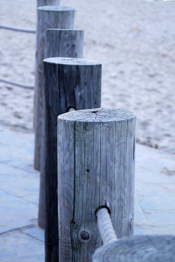 Beach posts royalty free stock photo