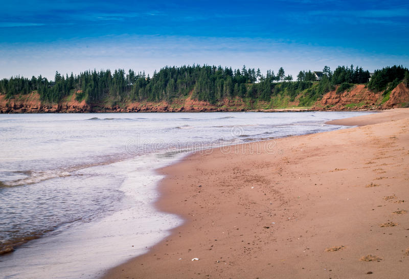 Beach in Prince Edward Island. The coast of Prince Edward Island Canada stock photography