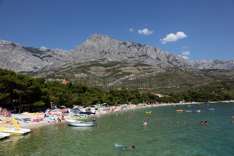Beach In Promajna, Croatia Editorial Stock Photo