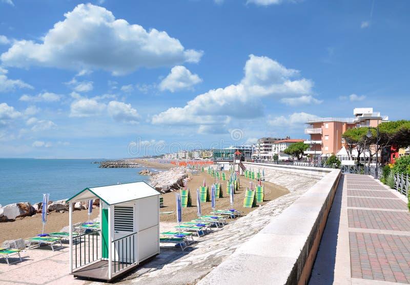 Promenade of Caorle,adriatic Sea,Italy stock photo