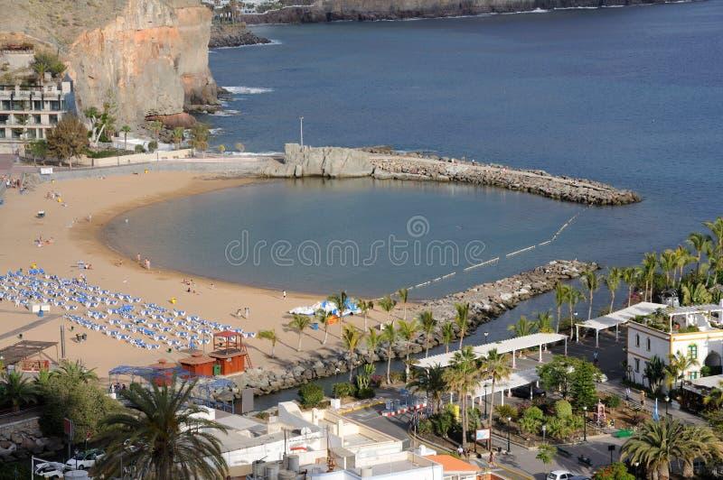 Beach in Puerto de Mogan stock photos