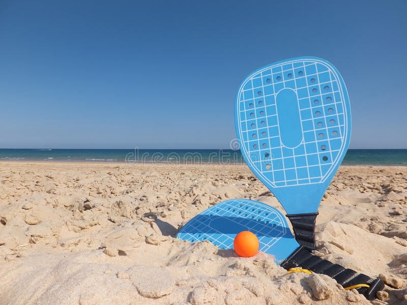 Download Beach Rackets stock photo. Image of sand, shore, objects - 33672208