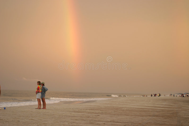 Download Beach Rainbow stock image. Image of seaside, primary, colors - 198905