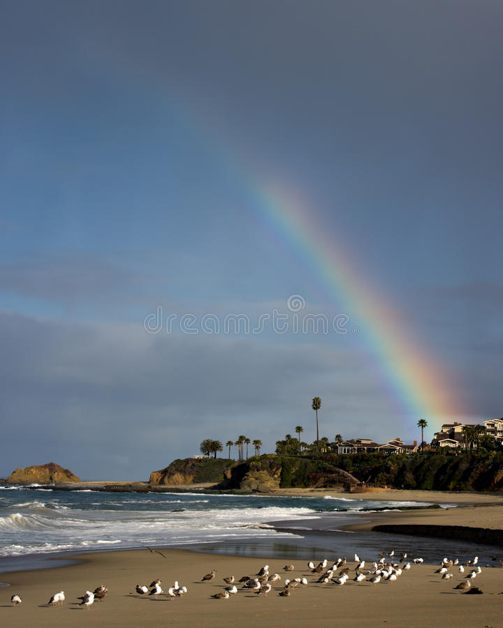 Download Beach Rainbow stock photo. Image of beach, bright, blue - 24885818