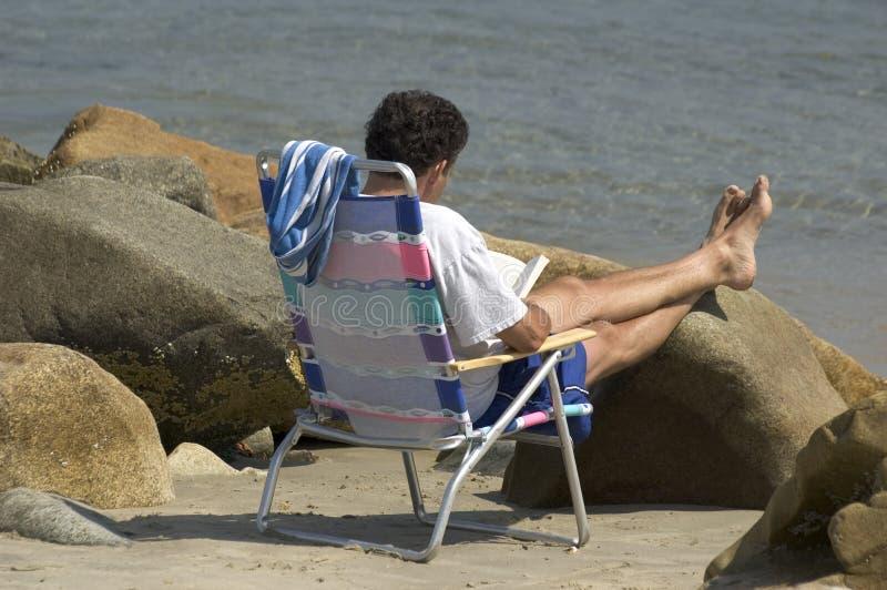 Beach Reading stock photo
