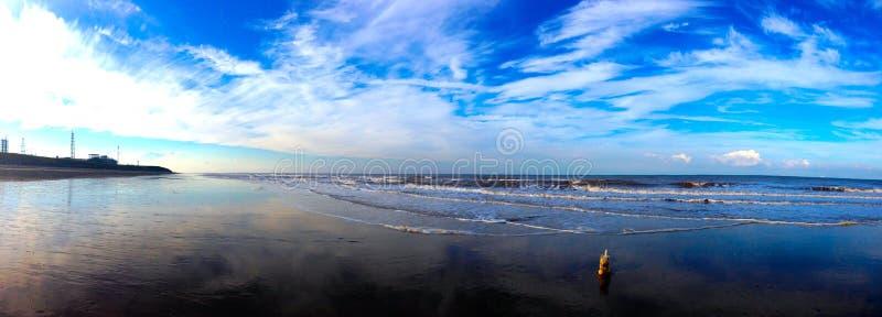 Beach reflection stock image