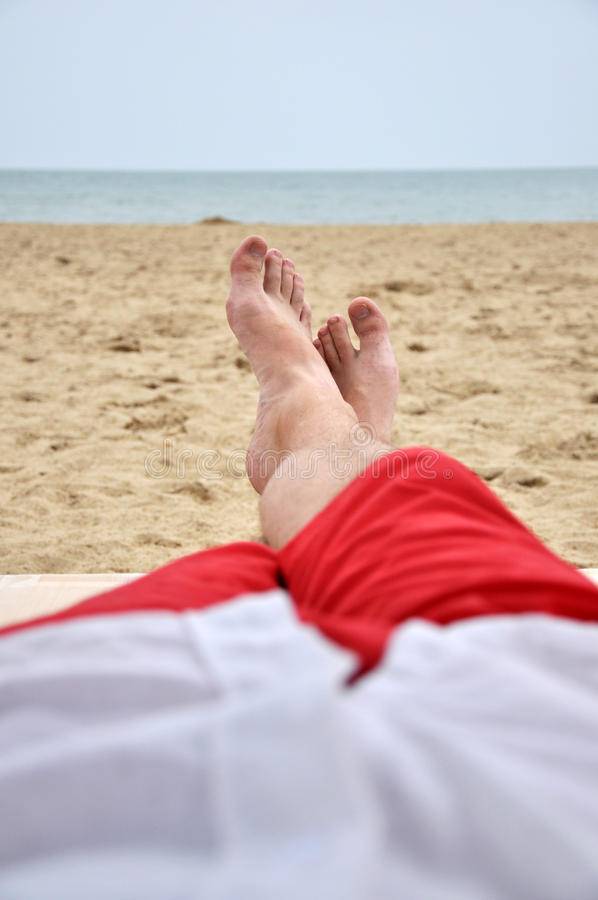Download Beach relax stock image. Image of long, laying, recreation - 15738667