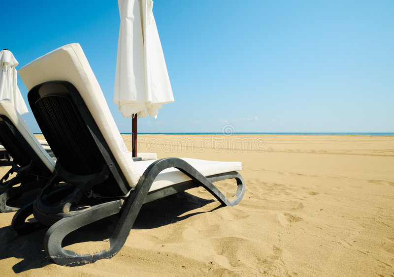 Beach Relax Royalty Free Stock Photography