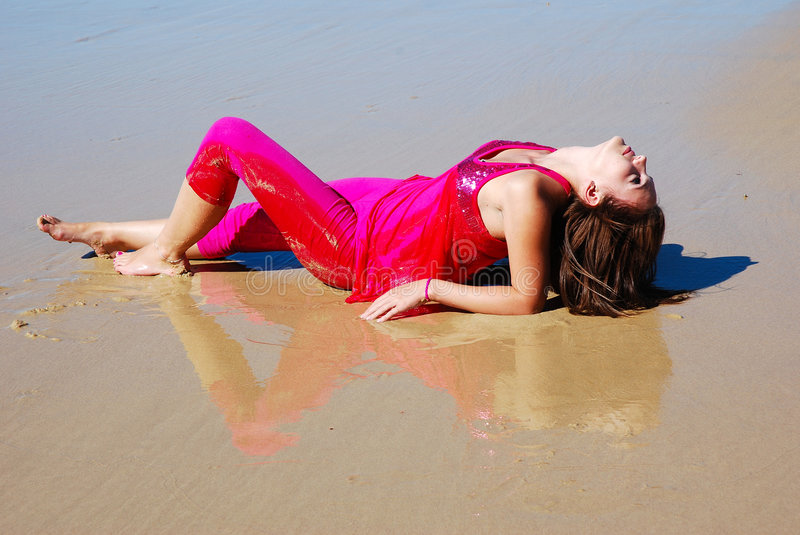 Download Beach relaxation stock photo. Image of back, beautiful - 4858254
