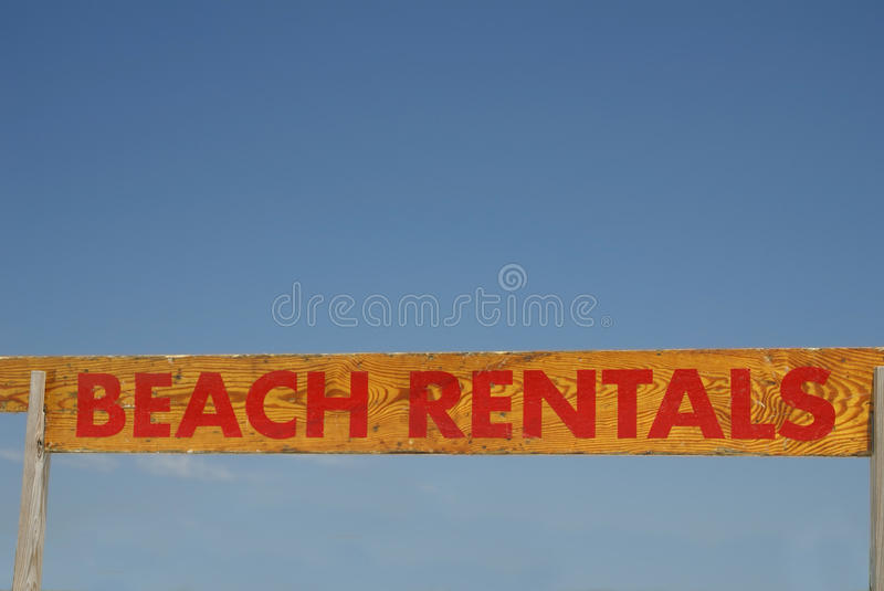 Download Beach Rentals Sign stock image. Image of seaside, sign - 18308007