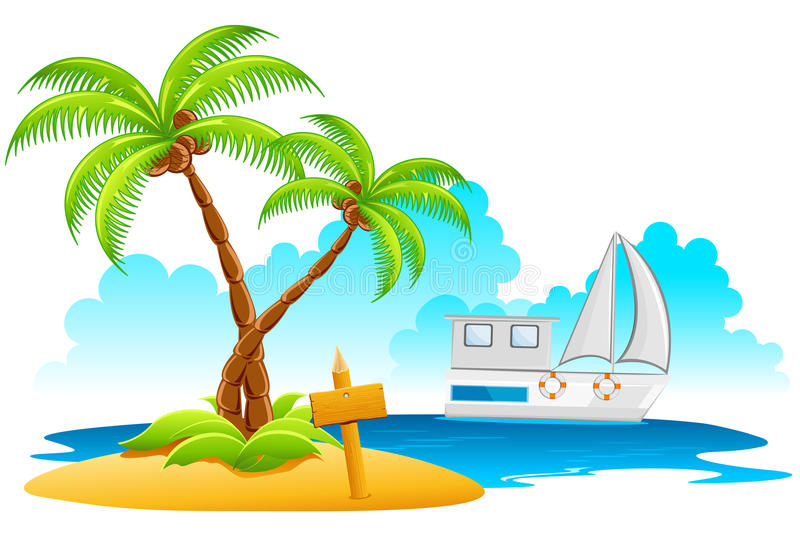 Download Beach Resort stock vector. Illustration of nature, holiday - 18968670