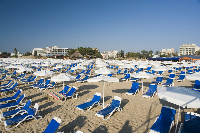 Download Beach resort stock image. Image of rows, shaded, shade - 3008831