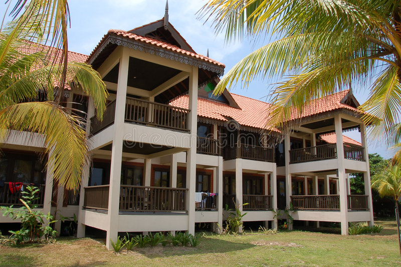 Download Beach Resort Building 1 stock image. Image of traditional - 816793