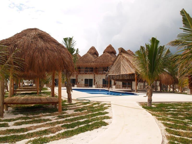 A beach resort in Cancun stock photo