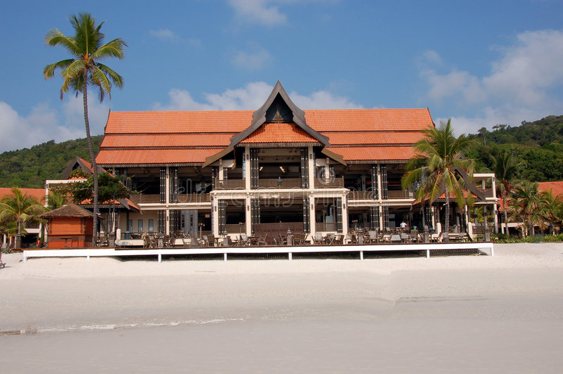 Beach Resort Main Building Stock Image