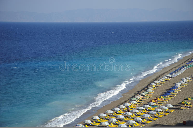 Beach at Rhodes royalty free stock photos