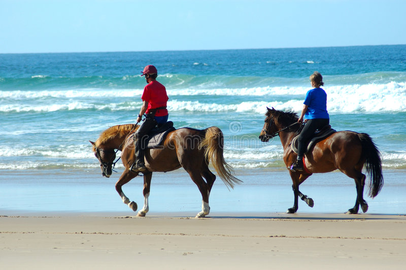 Beach riders royalty free stock image
