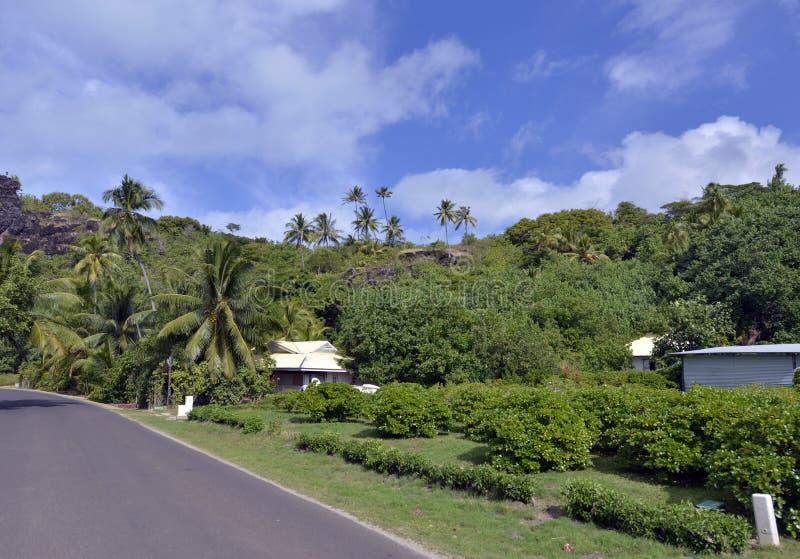 Beach road on Bora bora royalty free stock photos