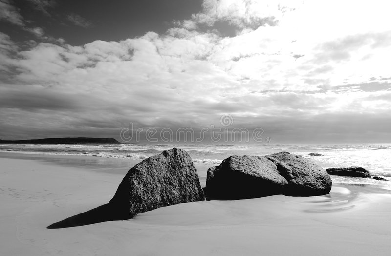Beach rocks graphic royalty free stock images