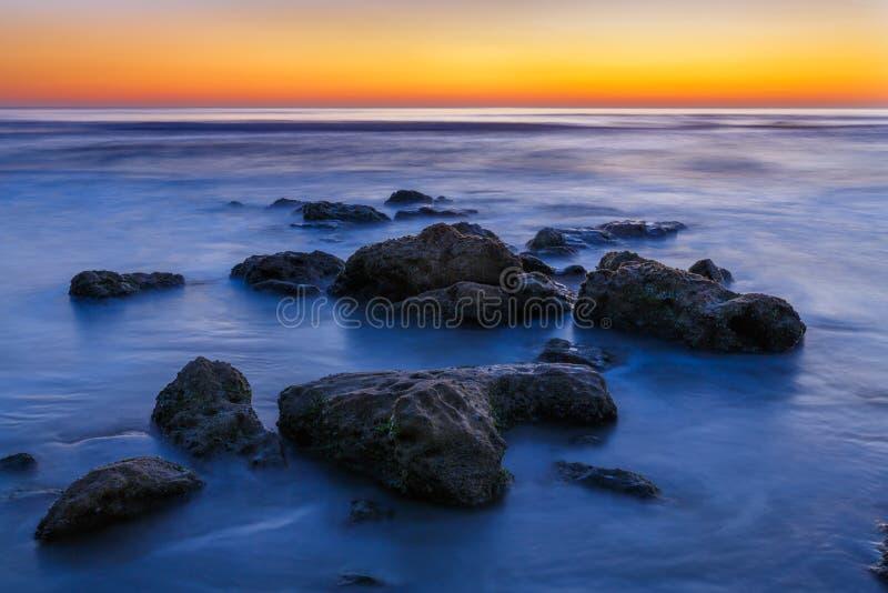 Download Beach Rocks Sunrise stock photo. Image of morning, coast - 39509500