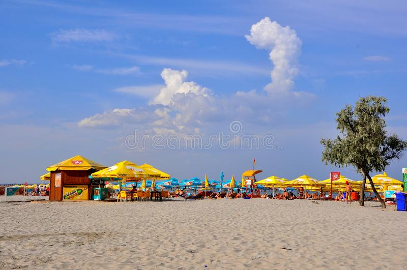 Download Beach in Romania editorial stock image. Image of eforie - 20751784