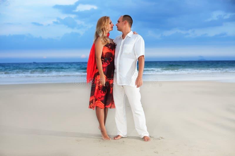 Beach Romantic Stock Photo