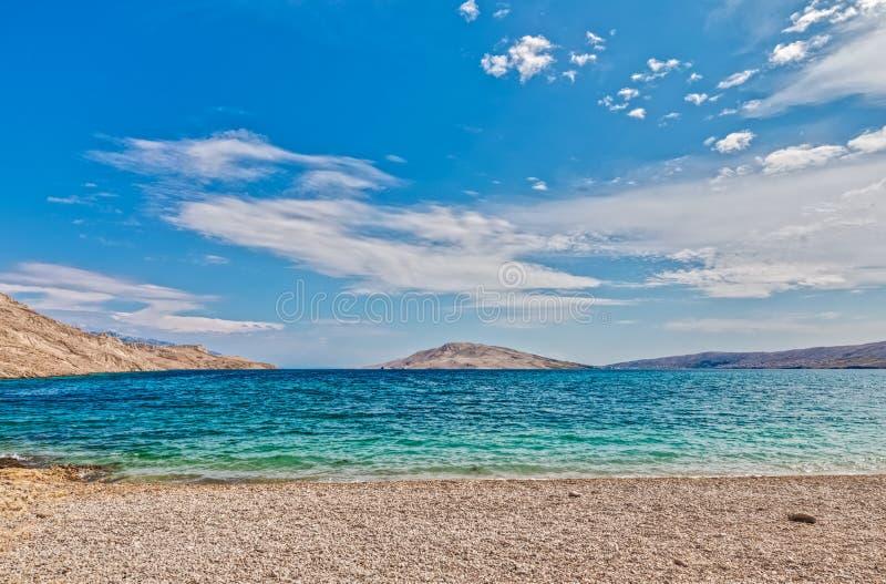 Beach Rucica on the island Pag, Croatia royalty free stock photo