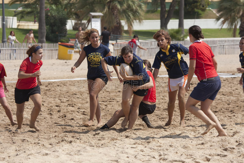 Download Beach rugby woman editorial stock photo. Image of sport - 26515128