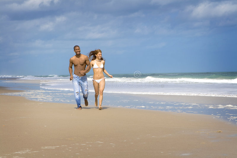 Download Beach run stock image. Image of summer, happy, florida - 4428421