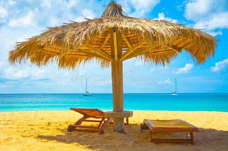 Beach in Saint Lucia, Caribbean Islands stock images