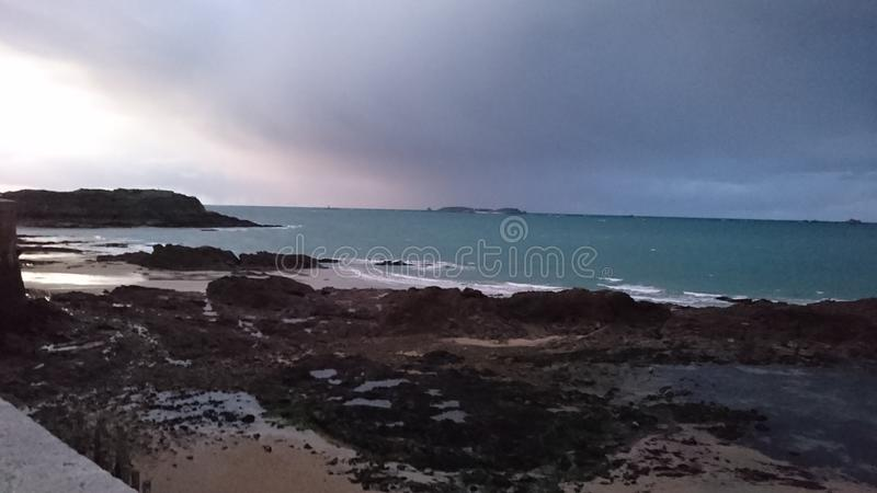 Beach of Saint Malo stock photo