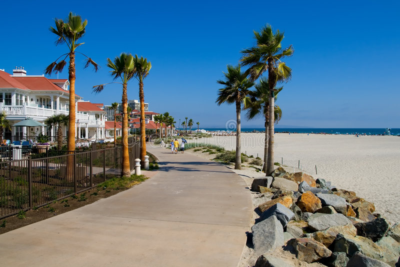 Beach in San Diego royalty free stock photography