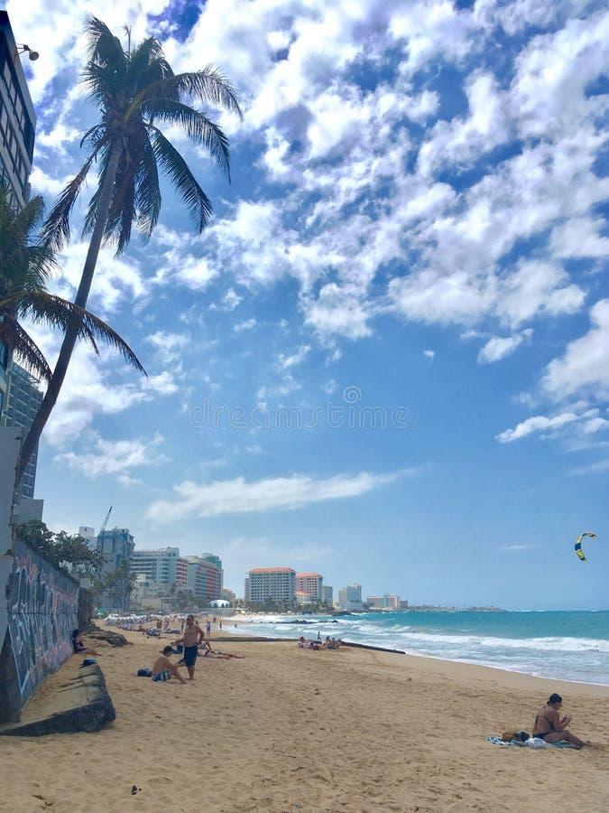 Beach in San Juan, Puerto Rico royalty free stock images