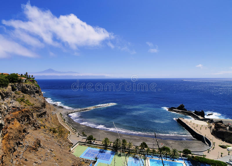 Beach of San Sebastian on Gomera. Beach of San Sebastian de la Gomera, Canary Islands, Spain royalty free stock photography