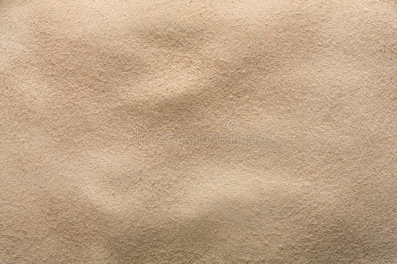 Beach sand background. Natural seashore texture surface royalty free stock photo