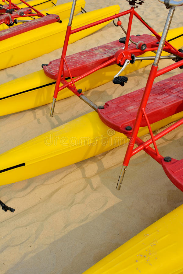 Beach Sand Bicycle Floater Royalty Free Stock Images