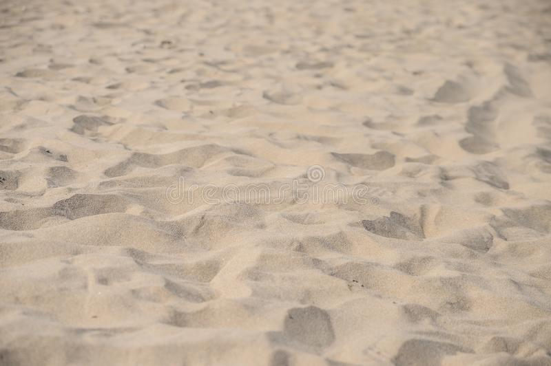 Beach sand with narrow depht of field. With a few stock photo