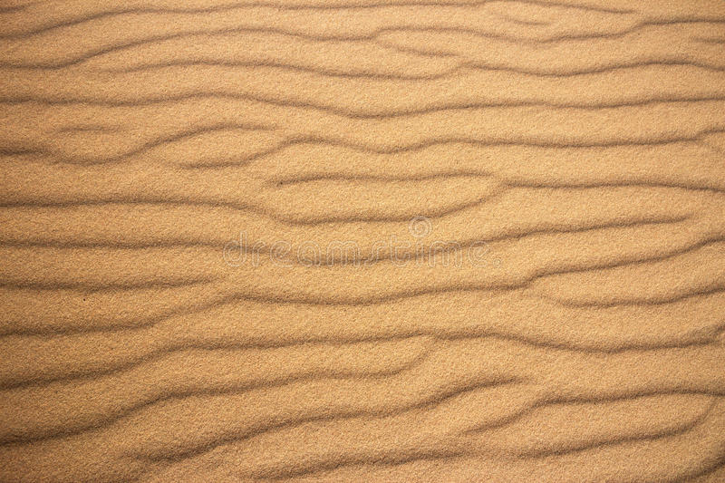 Beach sand pattern. Wave pattern in the sand on a beach royalty free stock photos