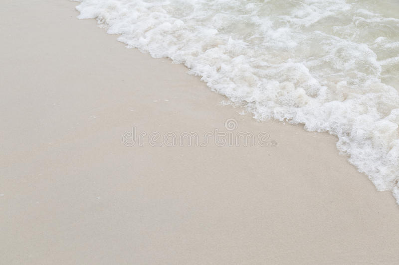 Download Beach With Sand And Water For Background Stock Image
