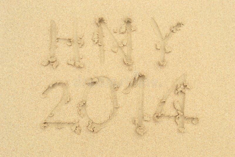 Beach on Sand. The Word Beach Written in the Sand on the Beach royalty free stock photos