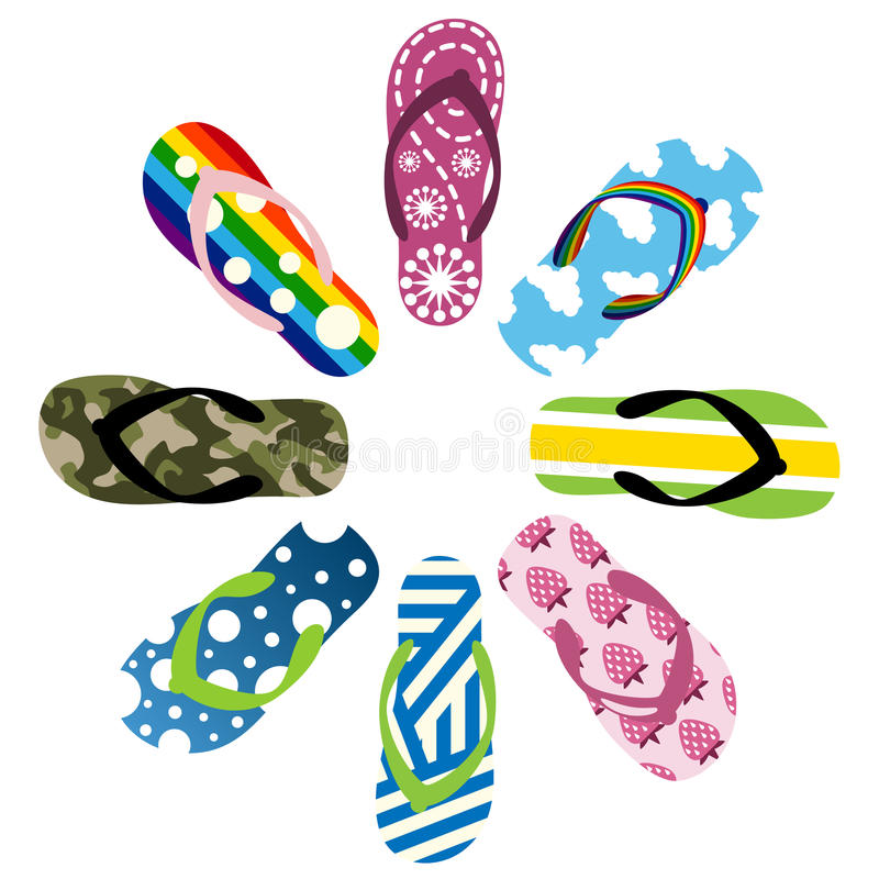 Download Beach sandals stock vector. Image of design, outfit, accessories - 14772128
