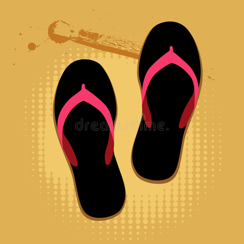 Free Beach Sandals On Sand Royalty Free Stock Images - 9253939