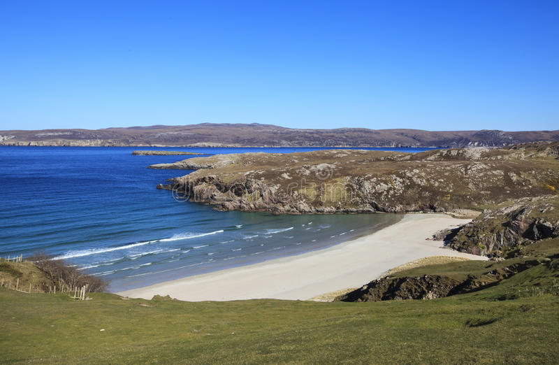 Download Beach In Sangomore Area, Durness, Scotland Stock Image - Image of line, green: 36781555