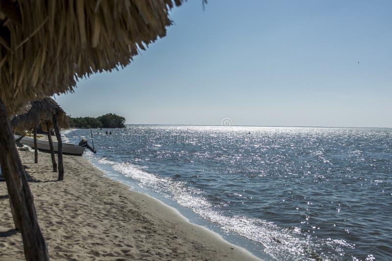 Beach in Santa Brigida stock images