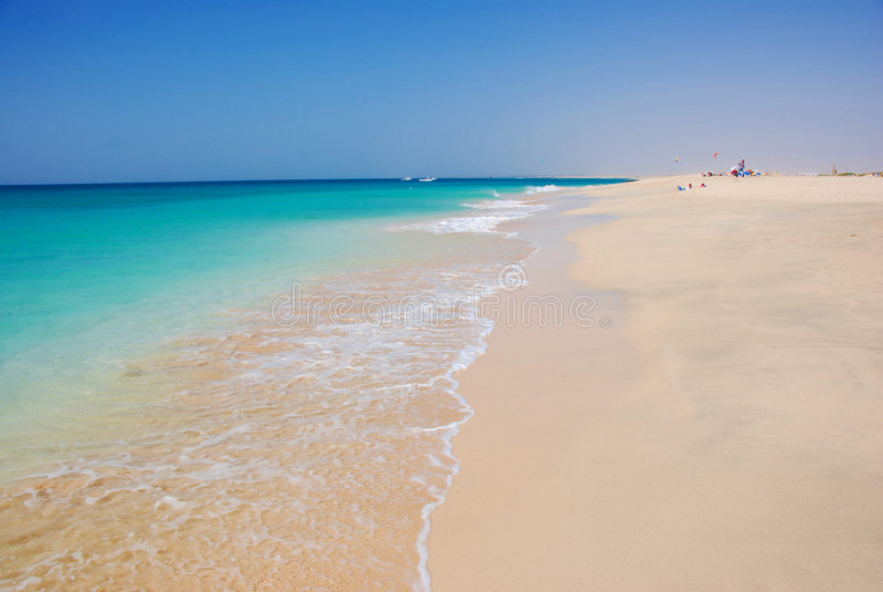 Beach at Santa Maria - Sal Island - Cape Verde stock photography