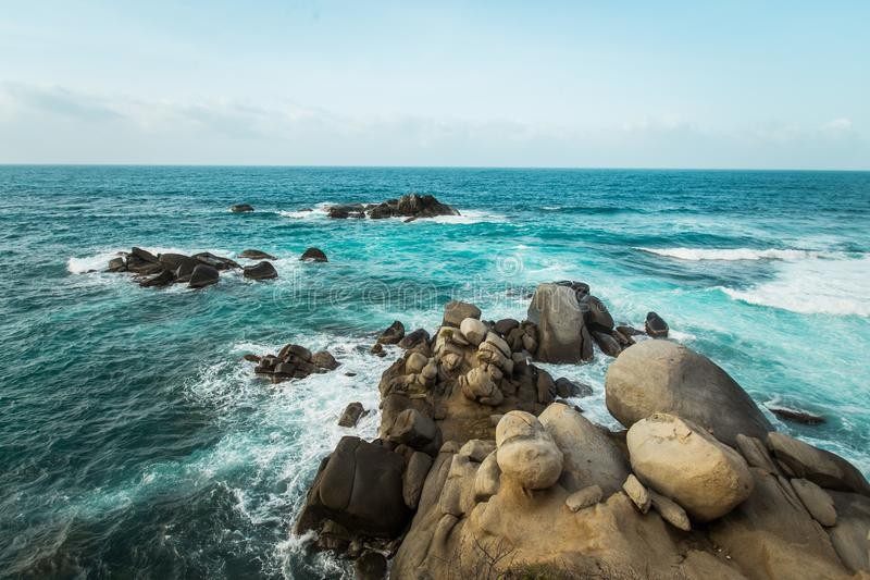 Beach in Colombia, Caribe royalty free stock image